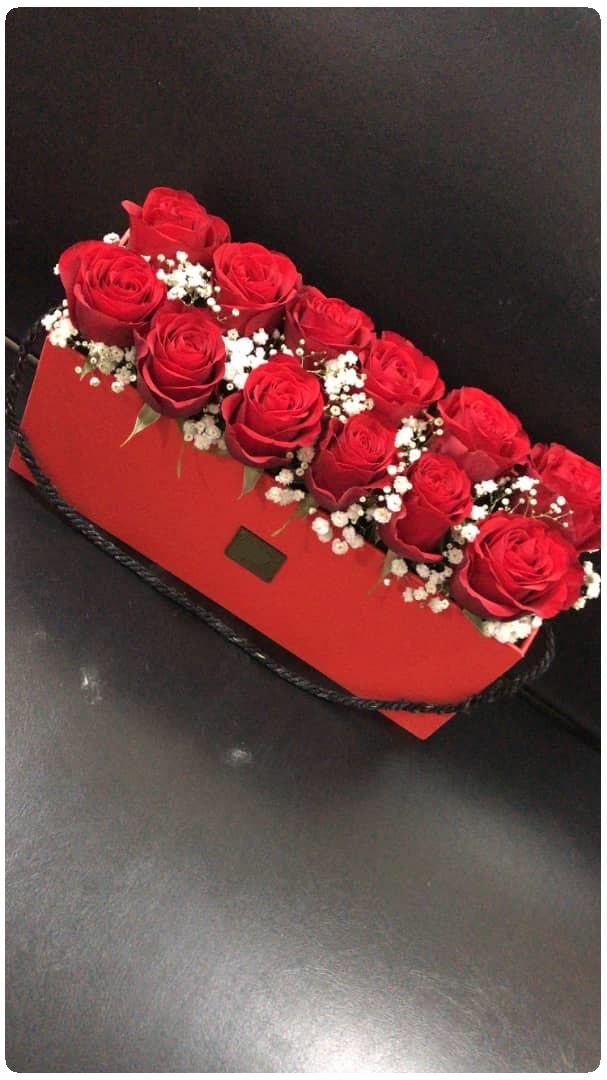 باکس گل قرمز