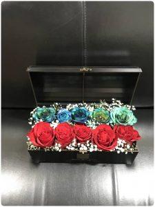 خرید باکس گل صندوقی مشکی